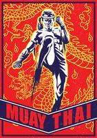 Vecteurs de combattant Muay Thai