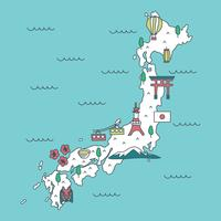 Vecteur de carte japonaise