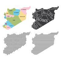 Vecteurs de carte de Syrie vecteur