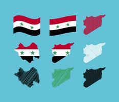 Vecteurs uniques Syrie gratuits