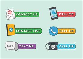 Vecteurs d'icône de contact