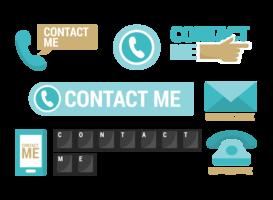 Contactez moi Icons Vector