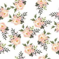 modèle sans couture de conception de fleurs