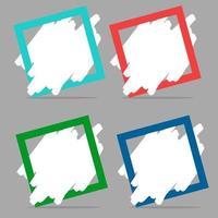 conception de collection colorée de bannière moderne