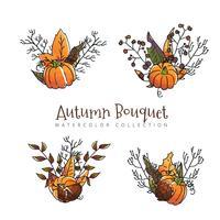 Collection de feuilles d'automne à la saison d'automne vecteur