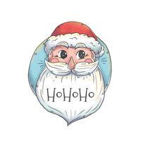 Père Noël mignon avec une longue barbe et citation