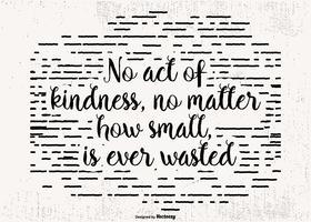 Affiche de citation Typograhpic Kindness vecteur