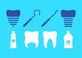 Vecteurs de fausses dents uniques gratuits vecteur