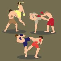 jeu de vecteur de muay thai