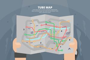 Tube Carte Illustration vecteur