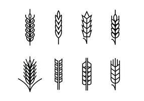 Oreilles de blé définies icônes