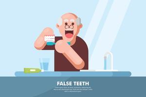 Illustration des fausses dents vecteur