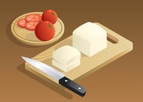Illustration vectorielle de tofu vecteur