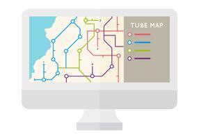 Vecteurs de carte Tube unique gratuit vecteur