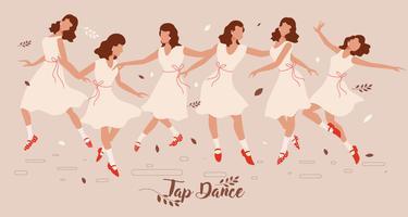 Appuyez sur Dance Lady Vector
