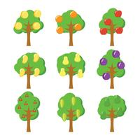 Icône de vecteur de l'arbre fruitier