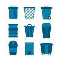 Collection de vecteur gratuit panier de déchets