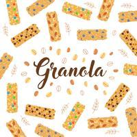 illustration de granola backgroud vecteur
