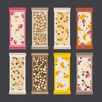 Collection de vecteur gratuit Granola Bar