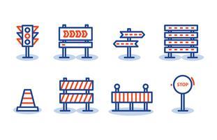 Panneau d'icônes de panneau de signalisation vecteur