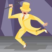 Appuyez sur danse Vector Illustration