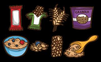 Granola dessiné à la main vecteur