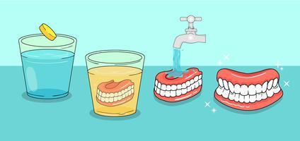 Vecteurs de soins dentaires vecteur