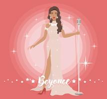 Belle robe Beyonce vecteur