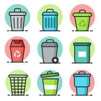 Vecteur gratuit de recyclage de corbeille