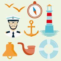 Vecteur de Sailor Seaman icônes gratuit