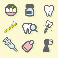Vecteur gratuit d'icônes dentaires