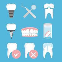 Vecteur gratuit de soins dentaires