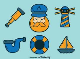 Vecteur d'élément de marin