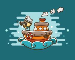 Vecteur gratuit de marin de dessin animé