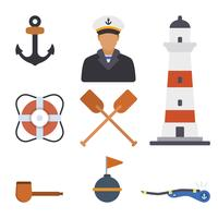 Vecteurs de matelot plat vecteur