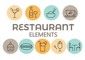 Vecteur gratuit d'éléments de restaurant