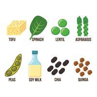 Vecteur d'icône de nourriture végétalienne