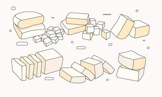 Vecteur de tofu