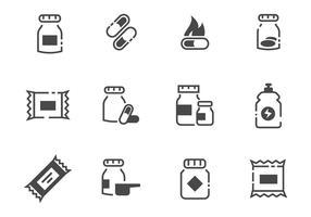 Vecteur gratuit d'icônes de suppléments