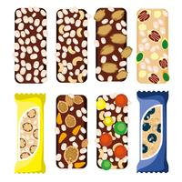 Vecteur gratuit de barres de granola