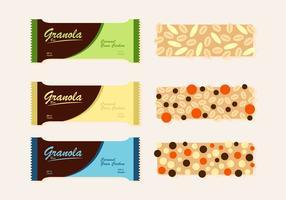 Trois variantes de vecteurs granola vecteur