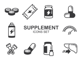 Suppléments Icons Vector
