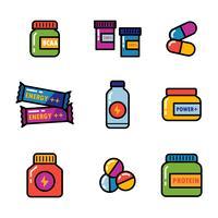 Suppléments d'icônes vecteur