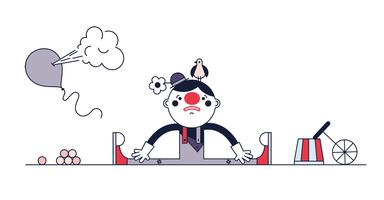 Gratuit vecteur de clown triste