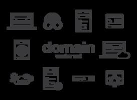 Vecteur d'icônes de domaine