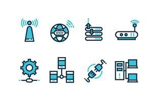 Pack d'icônes réseau vecteur