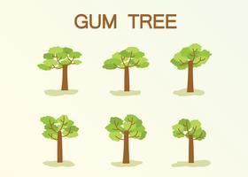 Vecteur gratuit de gomme d'arbre