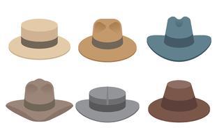 icônes vectorielles de chapeau panama vecteur