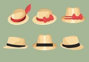 Collection de chapeau de Panama vecteur
