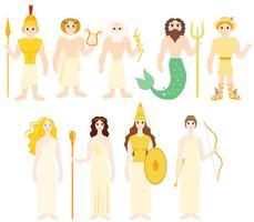 Vecteurs de dieux grecs gratuits vecteur